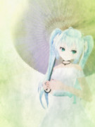 【MMD】和日傘のミクさん