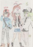 N、トウコ、トウヤを描きました