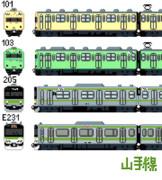 【ドット絵】国鐵・JR山手線の車輌