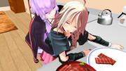 お料理中に悪戯する時はタイミングが大切!