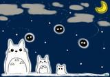 クロ助と雪月夜