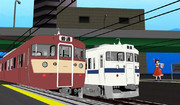 415系電車…。