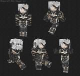 【Minecraft】METALGEAR RISING 雷電スキン