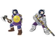 先代海賊船長と傭兵団長