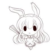 【塗り絵】黒ウサギ