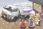 雪は冬の訪れを告げて