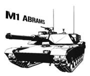M1 ABRAMS 色なし