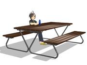 【配布】公園にありそうなテーブル