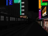 夜の昭和の街