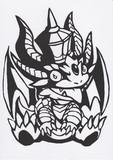 【パズドラ】キングメタルドラゴン【切り絵】