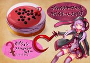 悪魔憑きゆかりさんをイメージしたケーキ