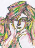 翠の嵐髪の娘