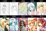 10年絵柄変化録