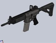 M4A1カスタムをSolidWorksで作ってみた