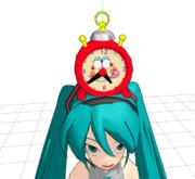 【MMDモデル配布あり】顔のついた目覚まし時計