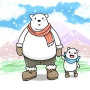 白クマおやこ