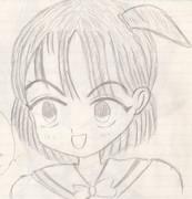 女の子 鉛筆画 オリジナルキャラクター 初心者