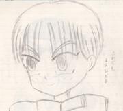 男の子 鉛筆画 初心者 素人が描いてみた オリジナルキャラクター