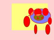 タイヨウを描いてみた  初心者 色塗り 落書き イメージ オリジナル