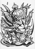 【パズドラ】超キングメタルドラゴン【切り絵】
