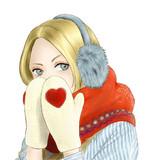 冬の日の女の子
