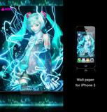 初音ミク iPhone 5壁紙
