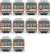 【直通開始間近!】MSペイントで東京メトロ10000系描いてみた。。