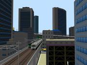 【RailSim】 高層ビルをバックに