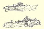 宇宙駆逐艦グネフヌイ&宇宙装甲巡洋艦リューリク「自作艦」