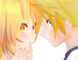 Almost kiss LenXNeru