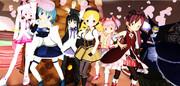 【MMD】♪「Kiss me 愛してる」 魔法少女まどか☆マギカ ALL-STARS
