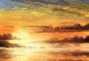 黄昏の海――フリー素材