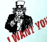 切り絵 I WANT YOU