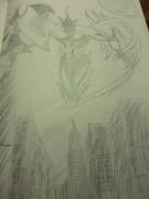 【よぉ】E・HERO フレイム・ウィングマン描いてみた
