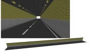 よくある四角っぽいトンネル【MMDアクセサリ配布有り】