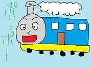 子どもに人気の人面機関車