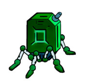 緑のポリタンク