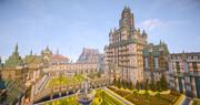 【minecraft】お城型マンション 別アングルから