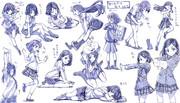 女の子制服ポーズ練習その2