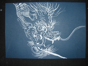 龍を白墨で描いてみた2