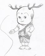 奈良県の英雄ことせんとくんを描いてみたらこうなった