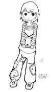 【超Tシャツ工房】ニコニコテレビちゃんを抱く女の子