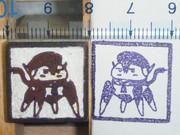 【デフォ子誕生祭2013】でぽ子彫ってみた【 #痛印 】