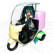 【MMD】ピザバイク【作りかけ】