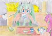 【VOCALOID】ミクパお疲れ様でした。ってみんな何食べてるの?