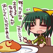 4人前のオムライスを食べるなおちゃん