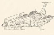 宇宙戦艦キリシマ「手描き」