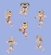 【Minecraft】オオカミパーカーリメイク