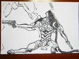 筆ペンでエヴァを描こうとした結果wwwwwwwwその1