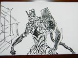筆ペンでエヴァを描こうとした結果wwwwwwwwその2